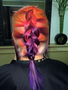 Orange to Pink to Purple