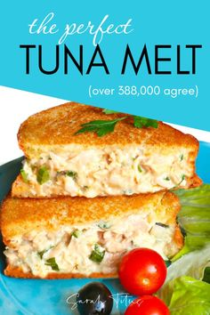 Tuna Melt Recipes - A Classic Tuna Melt is among well known lunch recipes ever. A tuna melt is a warm, open-faced sandwich made out of tuna salad and topped with tomato a. Tuna Melt Sandwich, Tuna Melts, Chicken Sandwich, Tuna Recipes, Seafood Recipes, Cooking Recipes, Sandwich Recipes, Seafood Bake, Dinner Recipes