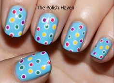Dotticure pastel nails dots pattern nail art