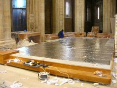 Malla radiante en Catedral de Santo Domingo de la Calzada, La Rioja, malla para laminados en el Altar,