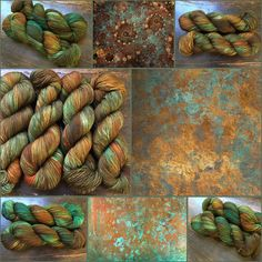 Rusty Copper. Witch Candy Yarn colorway.
