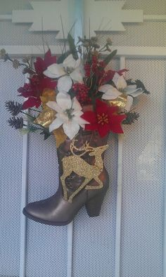 My cowboy christmas boot!