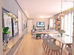 Condo Living, Home Living Room, Living Room Decor, Home Room Design, Living Room Designs, Home Decor Furniture, Luxury Furniture, Small Apartment Interior, Open Plan Kitchen Living Room