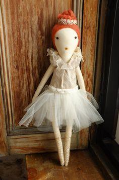 Handmade Rag Dolls by Gaiia Kim OneofaKind Cloth Doll by GaiiaKim
