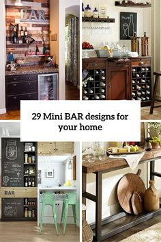 29 mini bar designs that you should try for your home - Home Bar Decor