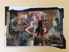 """Déborah Marcinhes """"Belle et bête"""" 40.00 cm x 30.00 cm (15.75"""" x 11.81"""") COLLAGE SUR PAPIER CHF 230.00  deborahmarcinhes Polaroid Film, Collage, Paper, Collages, Collage Art, Colleges"""