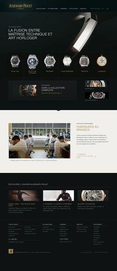 Audemars Piguet / Website / Web Design / Luxury Horlogery Swiss