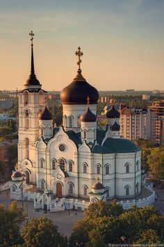 Cathedral of the Annunciation, Voronezh, Russia Russian Architecture, Church Architecture, Religious Architecture, Beautiful Architecture, Beautiful Castles, Beautiful Buildings, Take Me To Church, Cathedral Church, Hermitage Museum