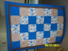 little boy quilt using 8 inch blocks