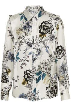 Hvitblomstret skjorte Gestuz - floria shirt 1906