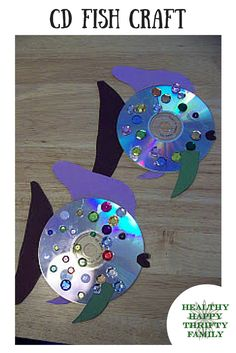 What to do with old CDs? Make a fish!