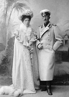 Grand Duchess Olga Alexandrovna and her first husband, Peter of Oldenburg.