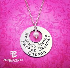 Great gift for holidays, birthdays, Valentine's Day, Mother's Day, a grandmother, or just to celebrate the special people in your life! I can either hang a pearl in the center or birthstones!
