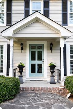 Dixie Delights: Project Curb Appeal: Portico Progress