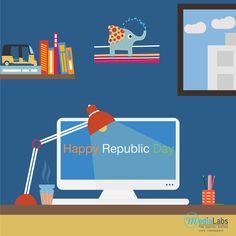 This Year India Celebrating Digital #Republicday. #MediaLabsIndia  Wishing You All A Happy Republicday.