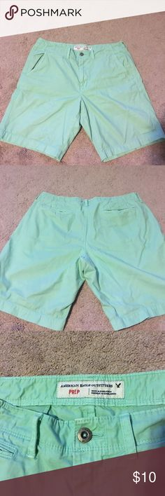 Mens Mint Green American Eagle Shorts Barely worn preppy American Eagle Mint Green Shorts American Eagle Outfitters Shorts Flat Front