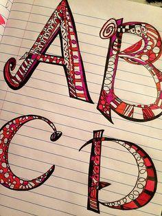embellished lettering