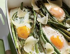 Asparagus and Eggs with Parmesan. If there was ever a match made in foodie heaven, it was the asparagus and the egg. Love at first bite.