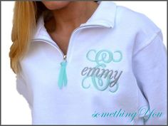 Initial and Name Personalized Sweatshirt with by SomethingYouGifts