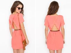 Scalloped Cutout Dress   20 Classy Cutouts