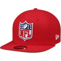 Men s NFL Shield Logo New Era Red Original Fit 9FIFTY Adjustable Snapback  Hat ced935da5d56