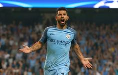 Sergio Aguero scored a hat trick as Manchester City crushed Borussia Monchengladbach in a belated UEFA Champions league match on Wednesda. Uefa Champions League, Esports, Manchester City, Sports News, Football, Running, Mens Tops, Women, Amazing