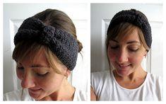 Free Crochet Turban Ear Warmer Pattern.