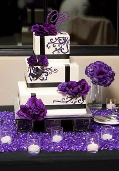 Wedding decoration in purple