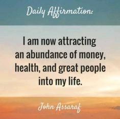 Click the Pin for Awesome Topics on Law Of Attraction manimir. 的秘密露馅 This is unbelievable. I am attracting an abundance of money, health, and great people into my life. Affirmations Positives, Wealth Affirmations, Morning Affirmations, Law Of Attraction Affirmations, Life Quotes Love, Great Quotes, Inspirational Quotes, Work Quotes, Motivational