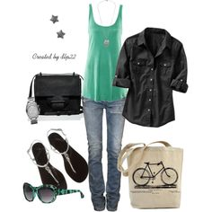 Black and Green..St Paddys day I would probably have a white shirt though <3