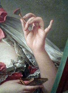 Detail from Madame de Pompadour by François Boucher (1750)