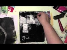 Using up old scrapbooking stickers on the Gelli Plate - YouTube -- I'm using up old witch stickers on the Gelli Plate and not everything goes as planned! Perhaps you've felt the same way I did on my very last ghost print.
