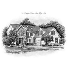 Custom House Sketch From Your Photo
