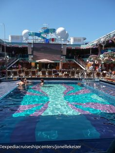 One of the pools on the Carnival Splendor