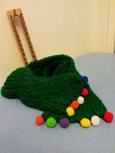 Bufanda de niño en telar azteca. Kids scarf.