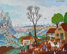 Biographie du peintre Alain THOMAS Alain Thomas, Illustration Art, Illustrations, Naive Art, Folk Art, Primitive, Inspirational, Colorful, Painting