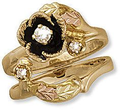 I would love this, since I wear a Black Hills Gold ring that belonged to my grandmother. M. Ladies Black Hills Gold Wedding Set with Engagement Ring
