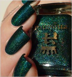 a england- Saint George.  Deep forest green with prismatic micro glitter.