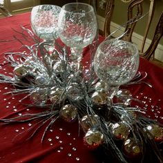 Silver Centerpiece with Bling