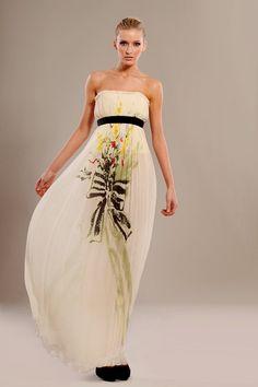 Silk wrinkled chiffon corset maxi printed dress. http://www.etsy.com/shop/tsyndyma?ref=si_shop