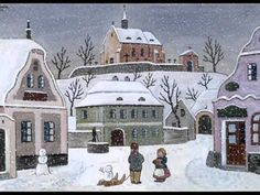 Josef Lada zima v obraze.Josef Lada Winter in the image . Children's Book Illustration, Illustrations, Primitive Painting, Photography Supplies, Great Paintings, Christmas Scenes, Naive Art, Vintage Christmas Cards, Winter Landscape