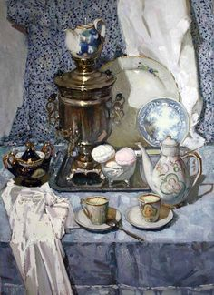 Григорьева-Климова Ольга. Голубой натюрморт (вариант). 2010