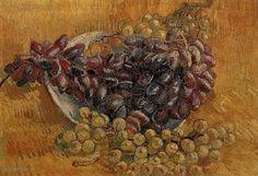 """Painting """"Stilleven met druiven"""" by Vincent van Gogh - www.schilderijen.nu"""