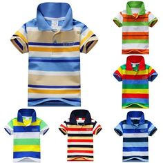 Kids Boys Children Summer Cotton Polo Shirts Toddler short-sleeved T-shirts 1-7T #Unbranded #Everyday