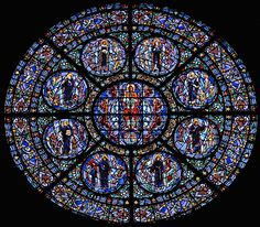 Rose window in St. Paul's Cathedral (MN)