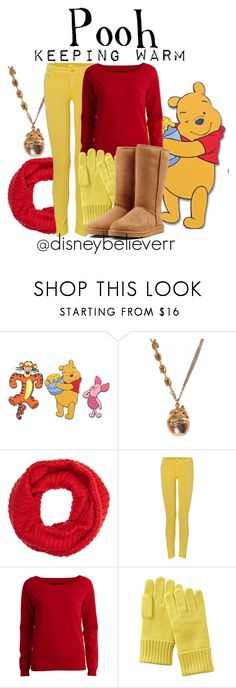 """""""Pooh"""" by disneybelieverr ❤ liked on Polyvore featuring Graham & Brown, Barneys New York, Mother, VILA, Uniqlo and UGG Australia"""
