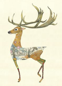 Hart( Stag)- Print | Animal Cards and Prints & Screen prints | The DM Collection
