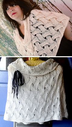 Knitting Pattern for The Royal Wave Capelet