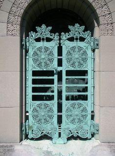 Door Detail Getty Tomb, Graceland Cemetery, Chicago. - Designed by Louis Sullivan
