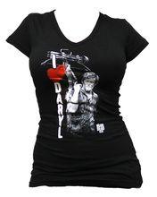 The Walking Dead - Ladies V-Neck I Heart Daryl Wings T-Shirt - BikerOrNot Store